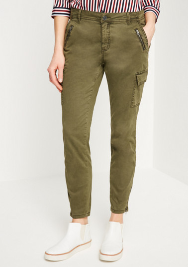 Casual cargo trousers in a vintage look from comma