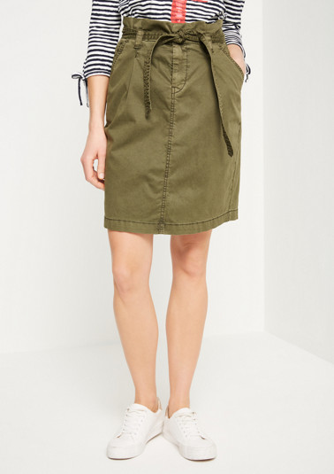 Casual skirt with wide textile belt from comma