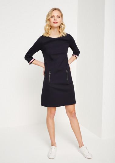 3/4-Arm Kleid mit Streifendetails