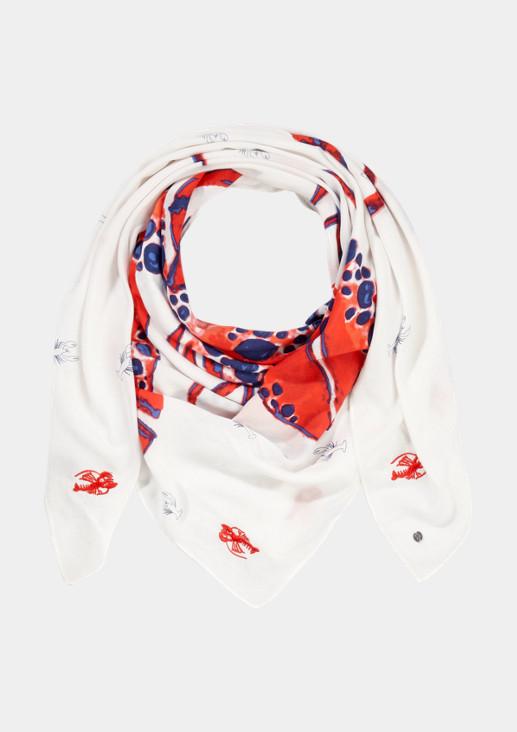 Schal mit farbenprächtigem Lobsterprint