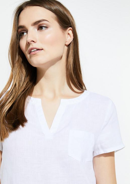 Leinenbluse mit Brusttasche