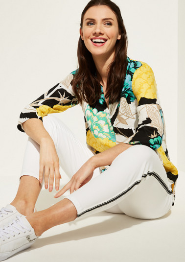 3/4-sleeve casual blouse with an all-over pattern from comma