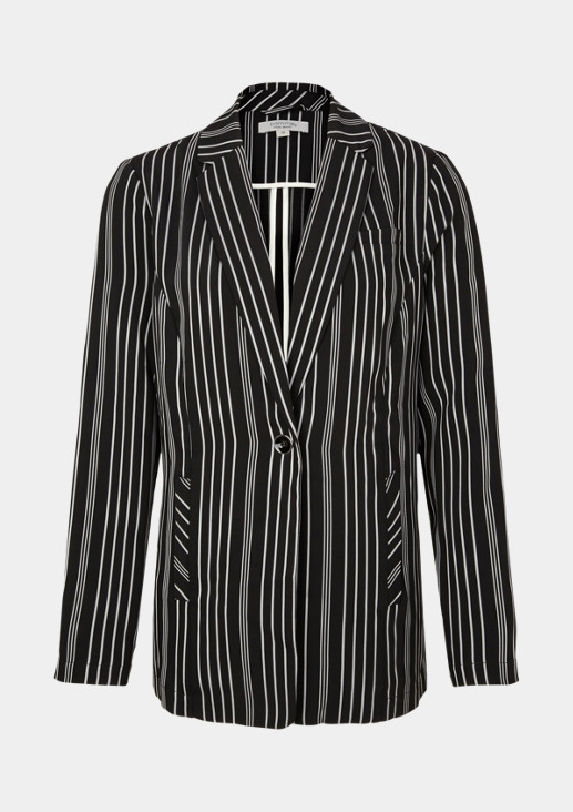 Business blazer with an extravagant striped pattern from comma