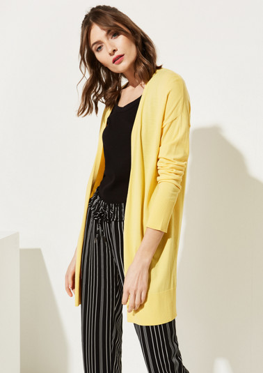 Lightweight long cardigan with sophisticated details from comma