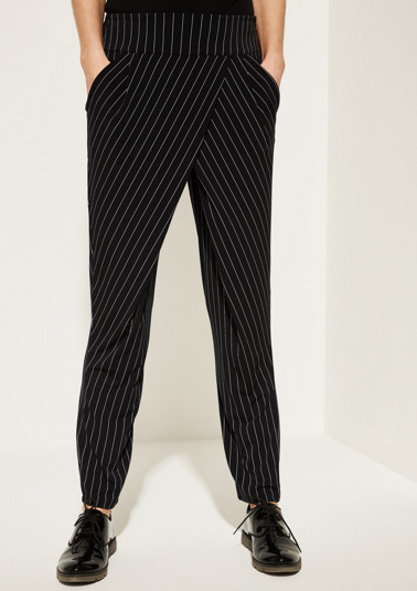 Jersey trousers in a pinstripe design from comma