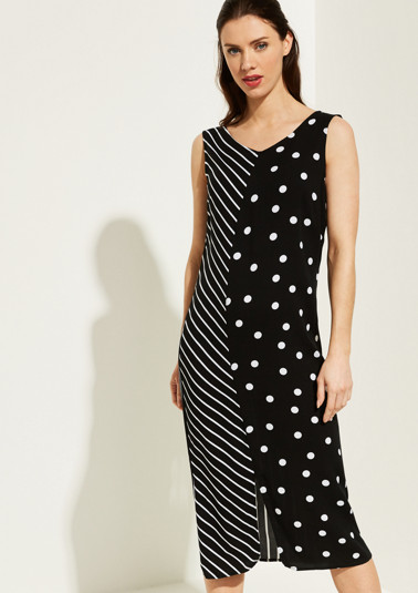 Maxi dress with a mixed pattern from comma