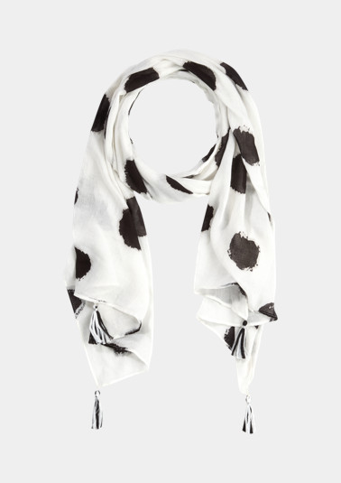 Lightweight scarf with decorative tassels from comma
