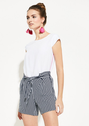 Blouse with contrasting stripes from comma