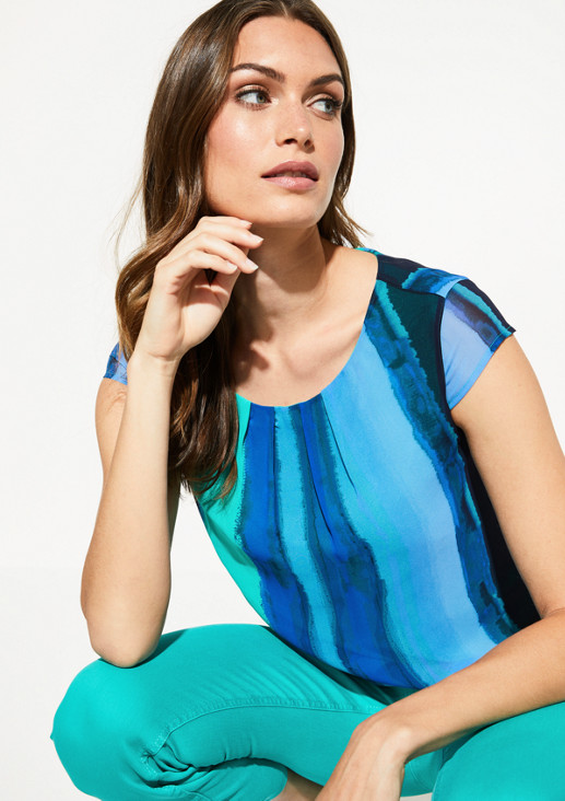 Crêpe blouse with an elaborate all-over pattern from comma