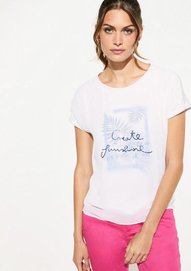 Zartes Shirt mit Statement-Print
