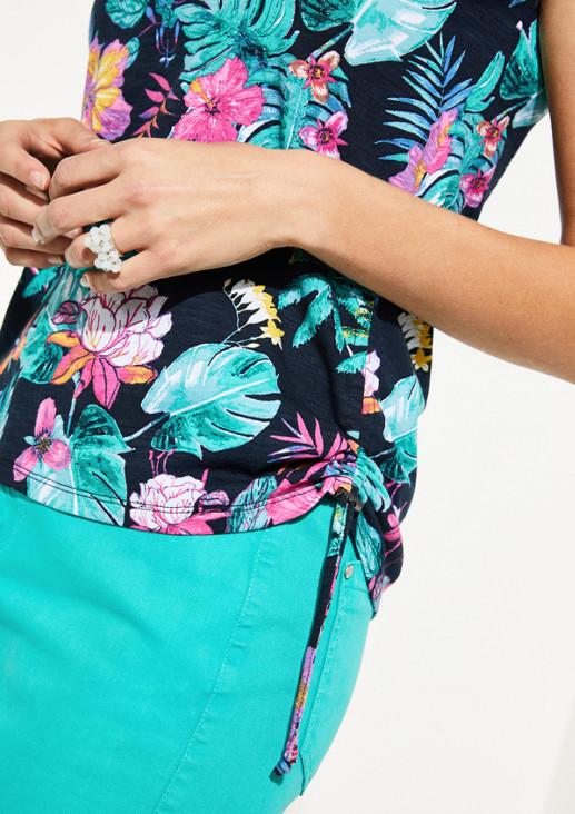 Jerseytop mit farbenprächtigem Floralprint