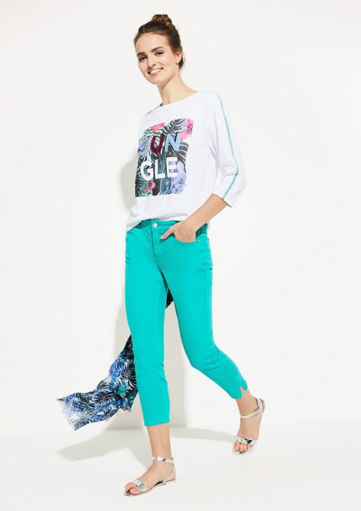 Shirt mit paillettenverziertem Frontprint