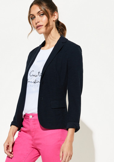 Lightweight summer blazer with flap pockets from comma