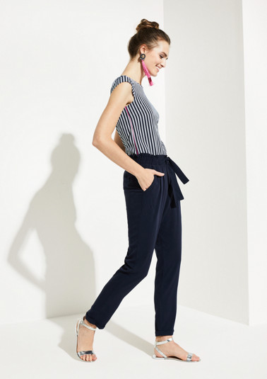 Lightweight paperbag trousers from comma
