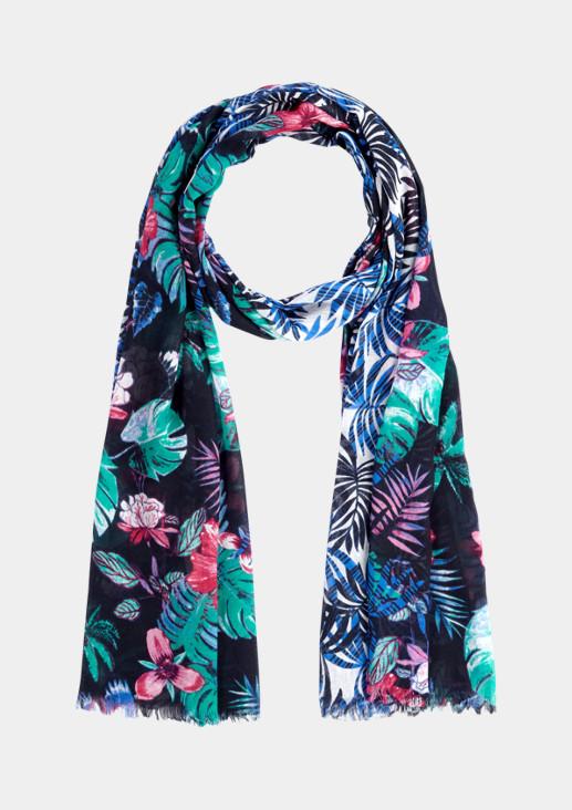 Schal mit buntem Floralmuster