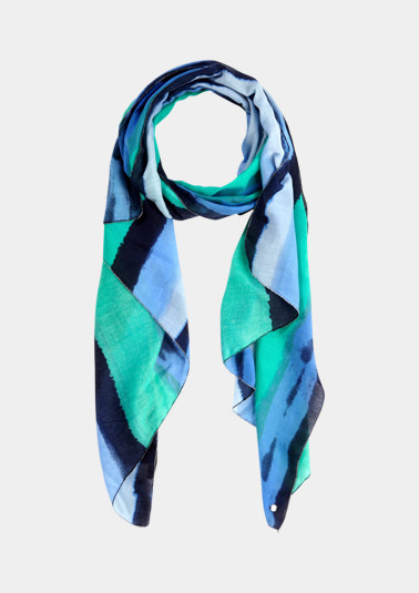 Scarf with an abstract striped pattern from comma