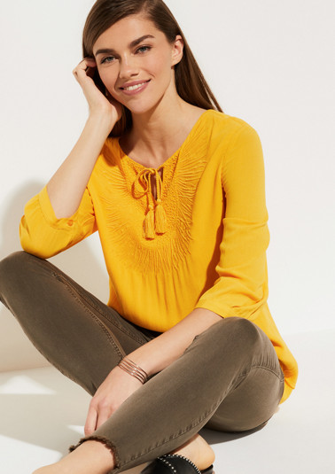 Crêpe blouse with glittery bead embellishment from comma