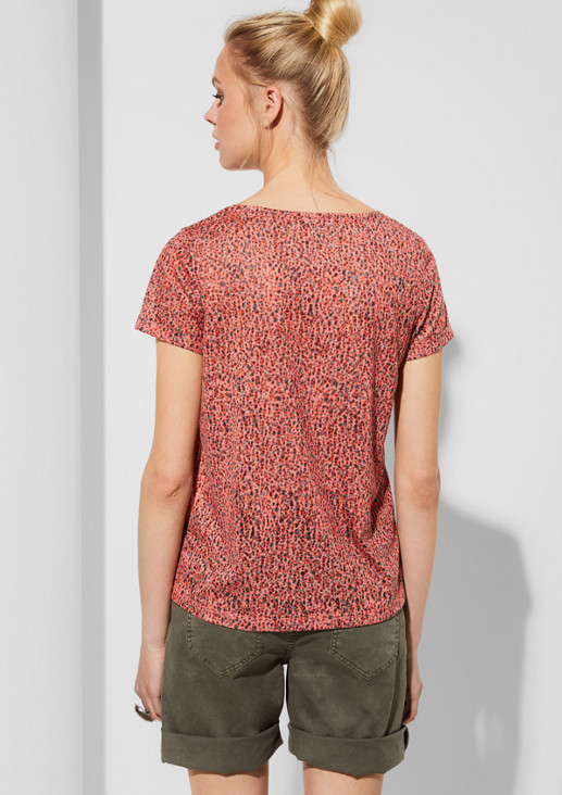 Patterned jersey top with a statement print from comma