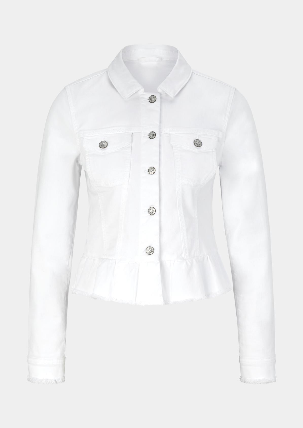 Coloured Denim-Jacke mit Fransenverzierungen