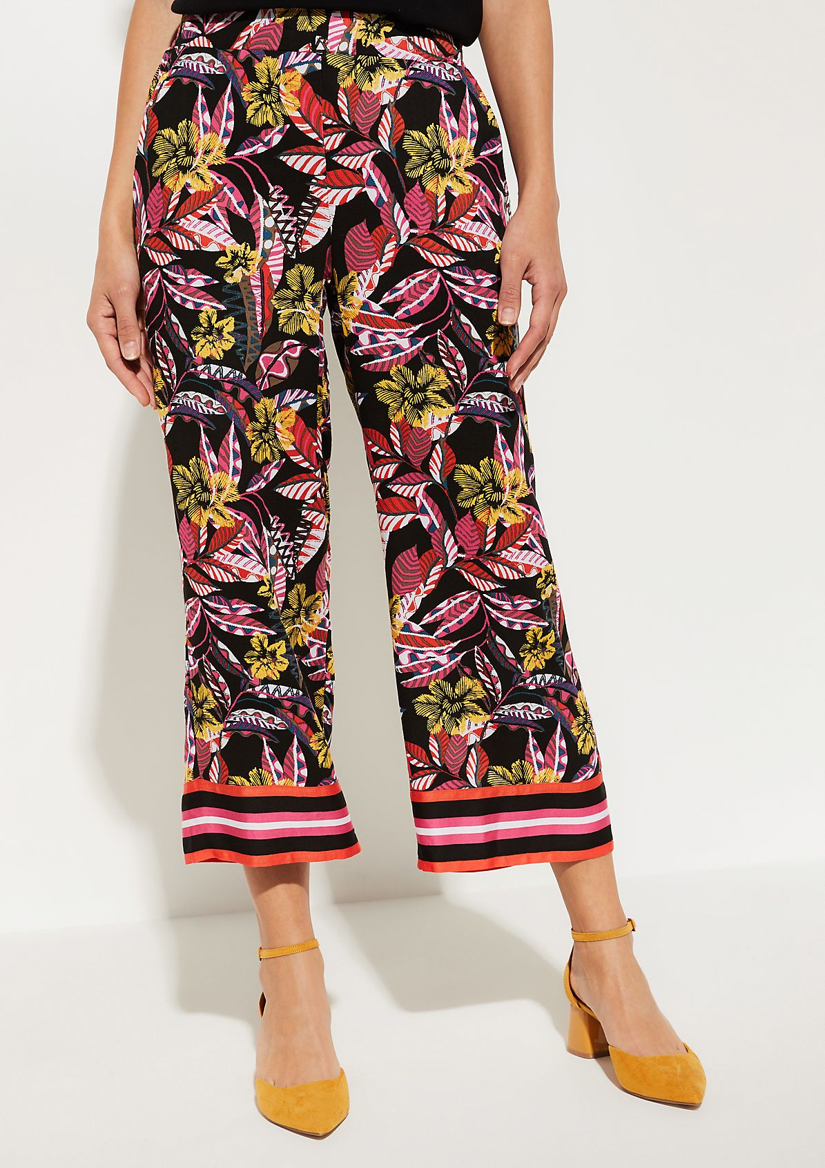 7/8-length trousers with a colourful all-over pattern from comma