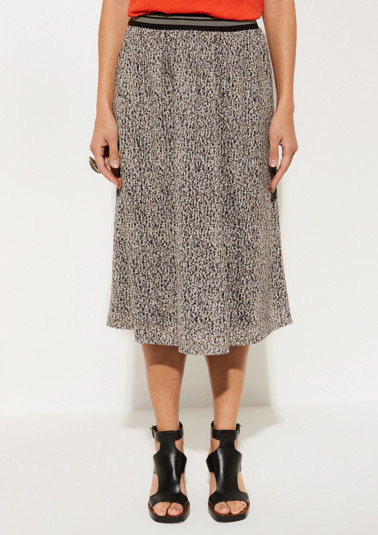Maxi skirt with a fine, minimalist pattern from comma