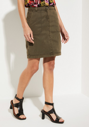 Short summer skirt with a sophisticated garment wash from comma