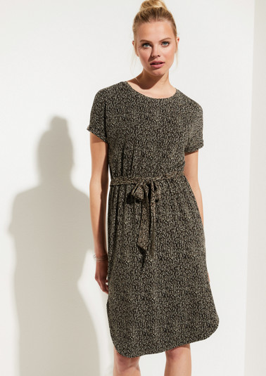 Jersey dress with a wide belt from comma