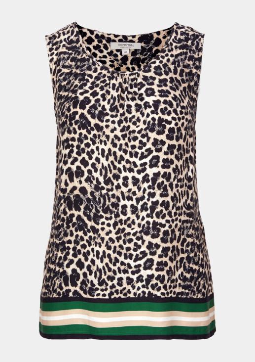 Top mit extravagantem Leopardenmuster