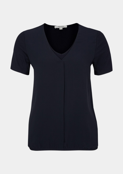 Short sleeve top in a sophisticated mix of materials from comma