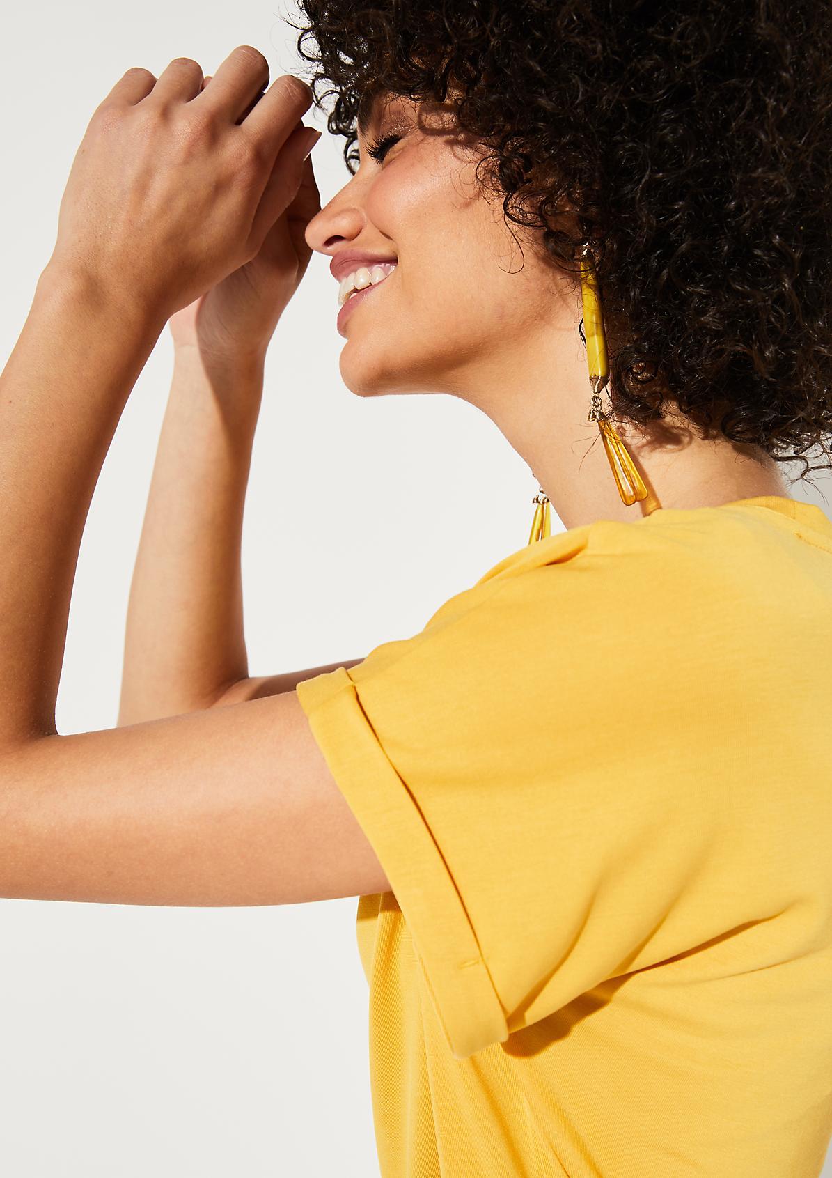 Jerseyshirt mit Umschlägen an den Ärmeln