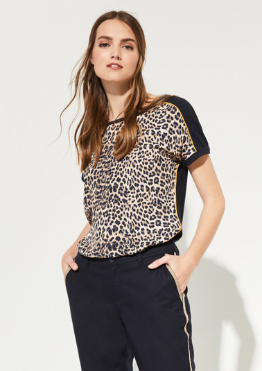 Shirt mit Leopardenprint