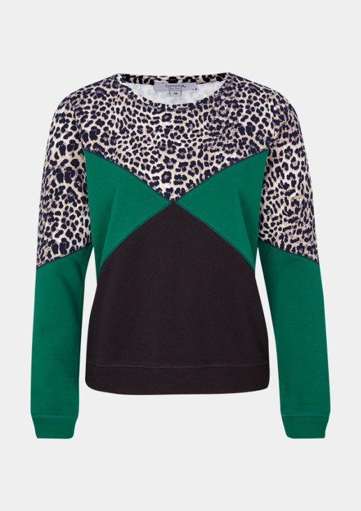 Soft sweatshirt in a mix of patterns from comma