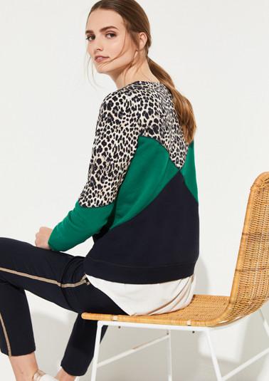 Weicher Sweater im Mustermix