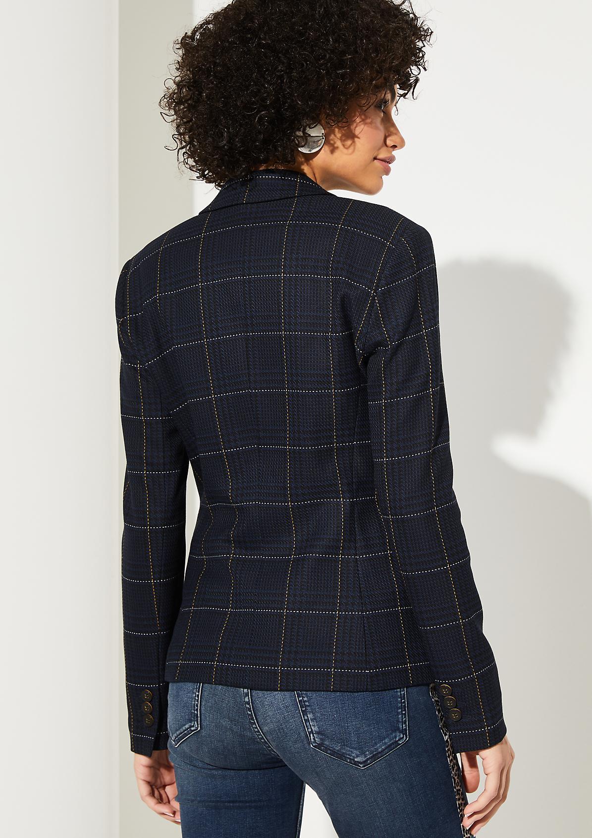 Businessblazer mit extravagantem Glencheck-Muster