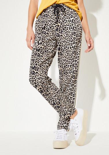 Loungepants im glamourösen Leopardenlook