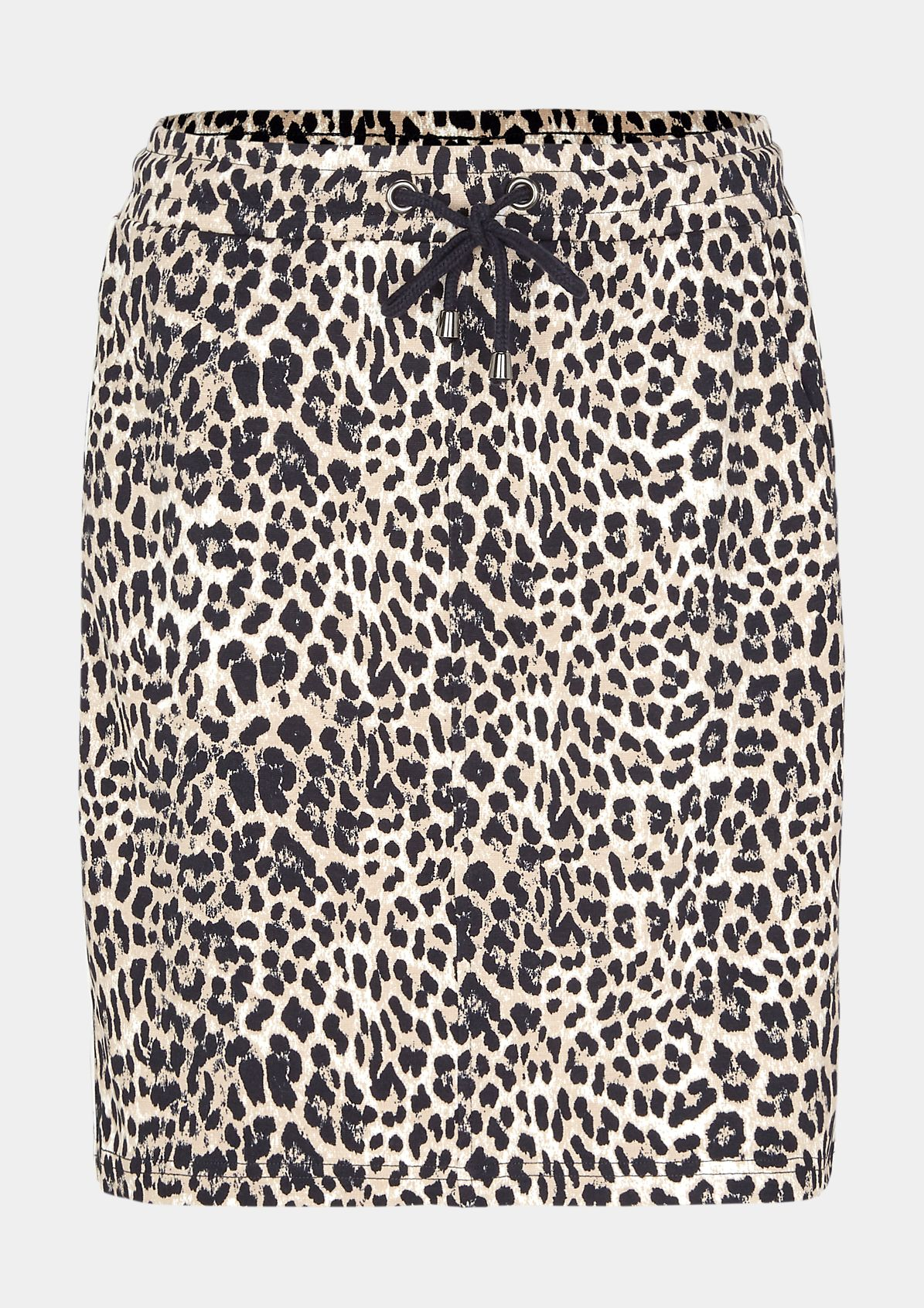 Short skirt in a trendy leopard look from comma