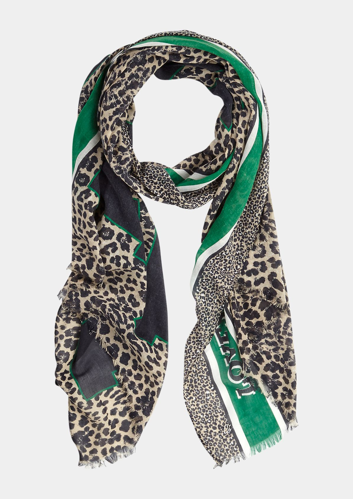 Scarf in a leopard look with a statement print from comma