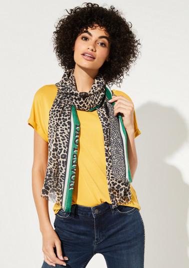 Schal im Leopardenlook mit Statement-Print