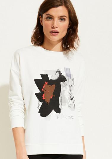Sweater mit Statement-Print