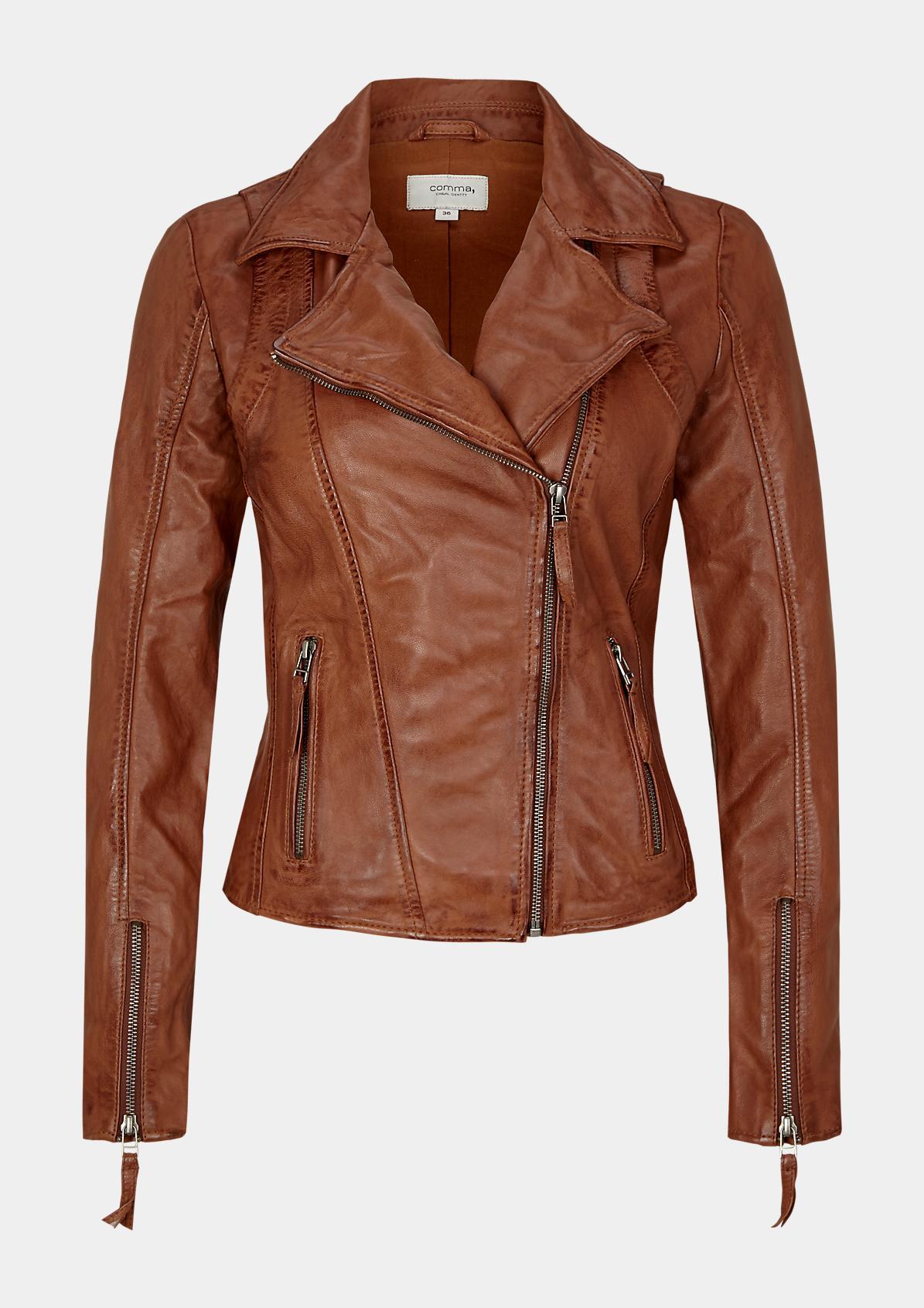 88.908.51.2148 Lederjacke | Fashion & Mode | comma Online Store