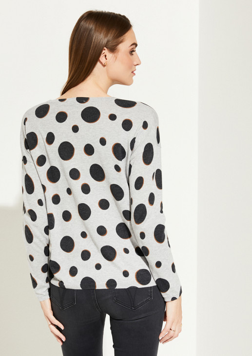 Fine knit jumper with a decorative all-over pattern from comma
