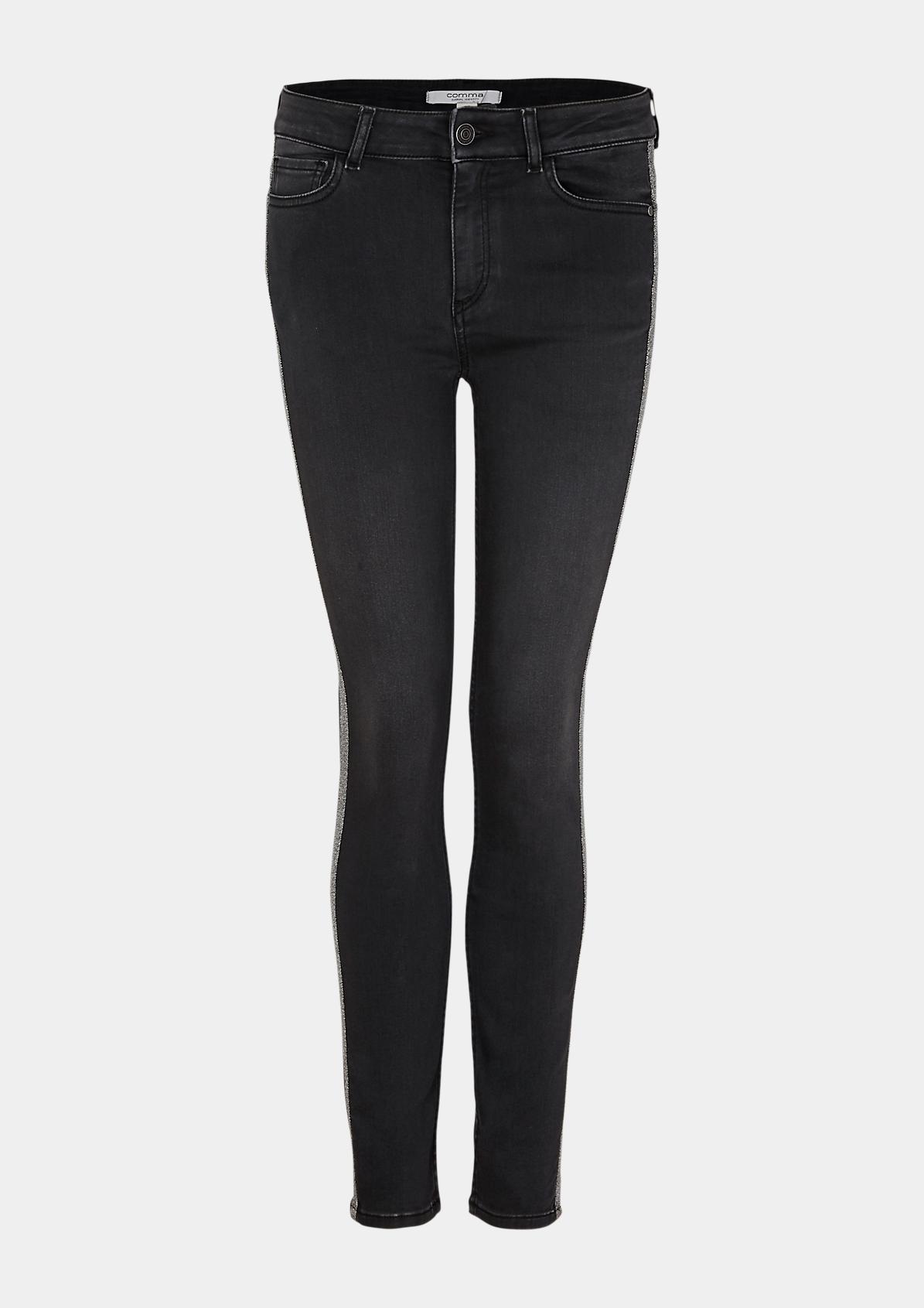 Jeans mit glitzernden Seitenstreifen
