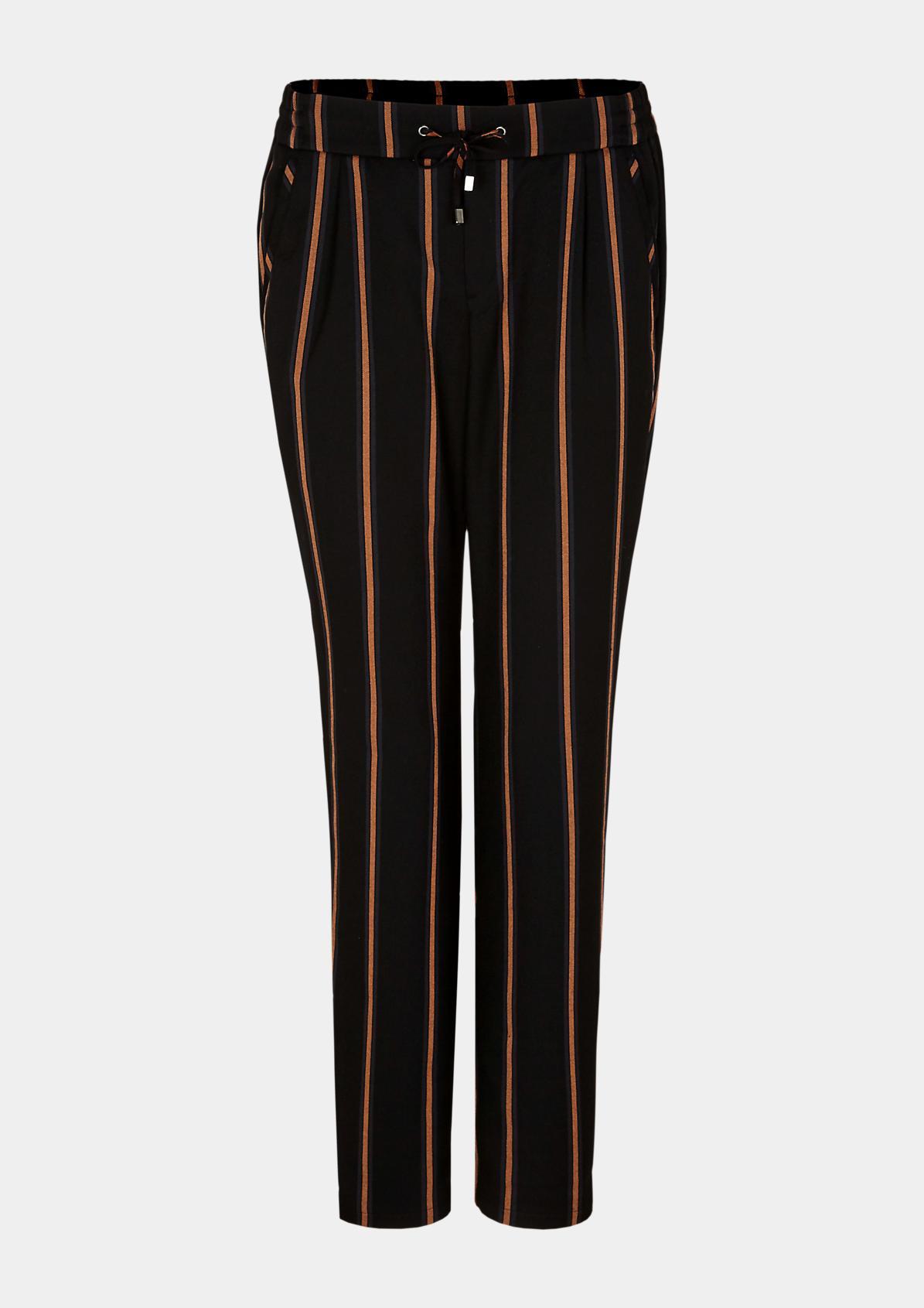 Loungepants mit feinem Streifenmuster