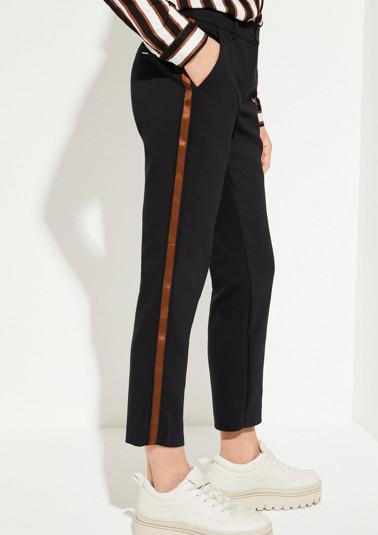 Pantalon business 7/8 à rayures décoratives sur les côtés de Comma