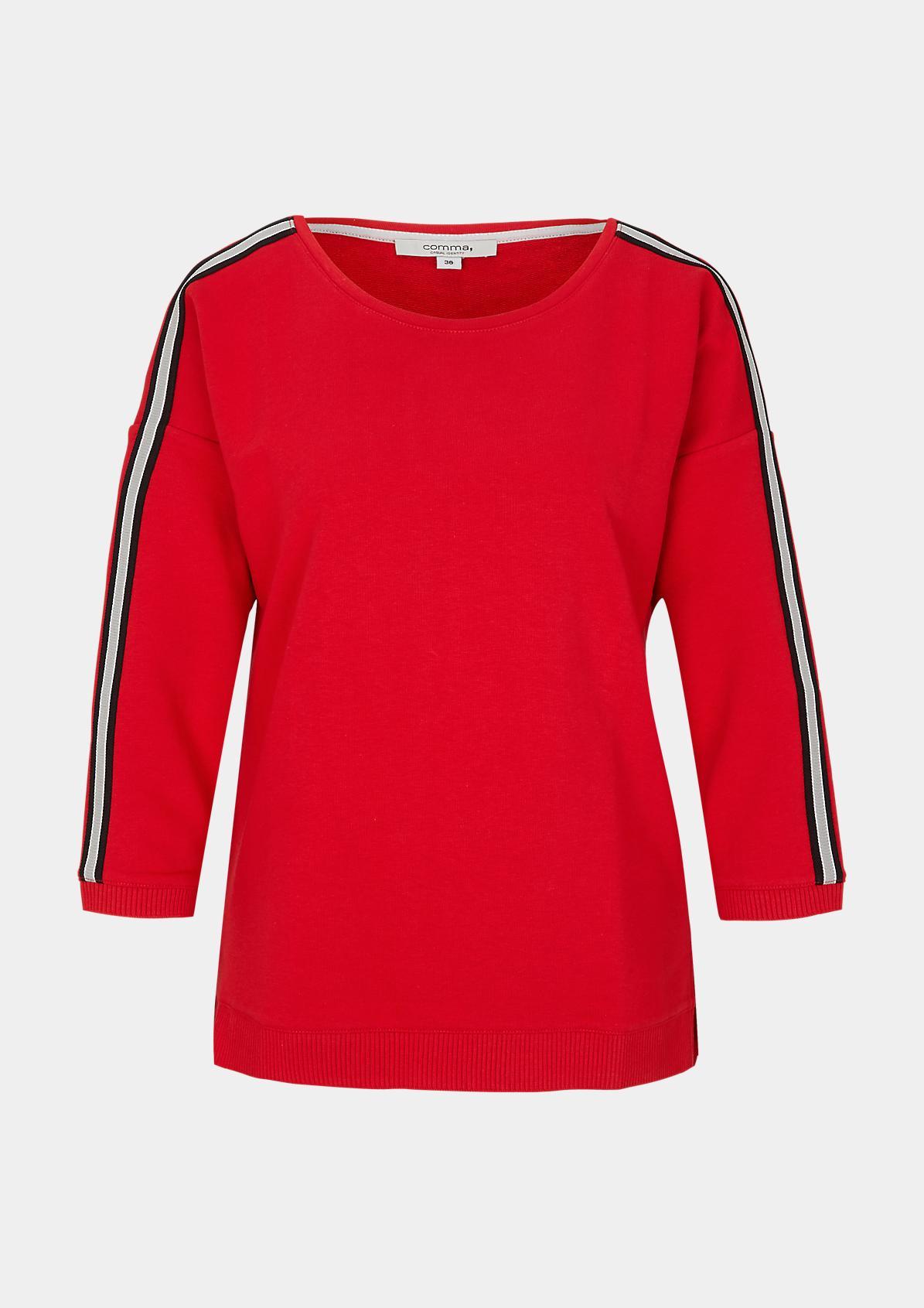 3/4-Arm Sweater mit raffinierten Details