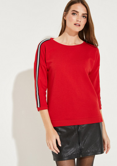 Jumper with 3/4-length sleeves and sophisticated details from comma