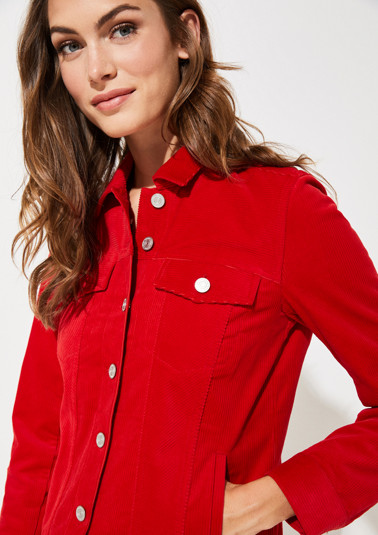 Casual corduroy jacket with breast pockets from comma