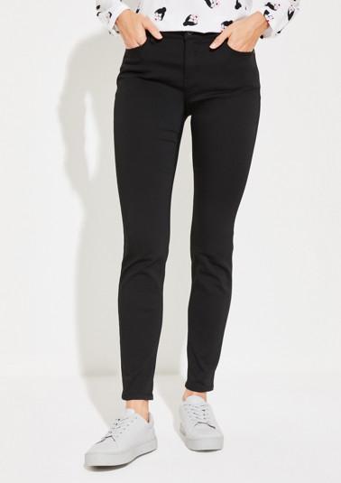Black Denim-Jeans im Skinny-Fit