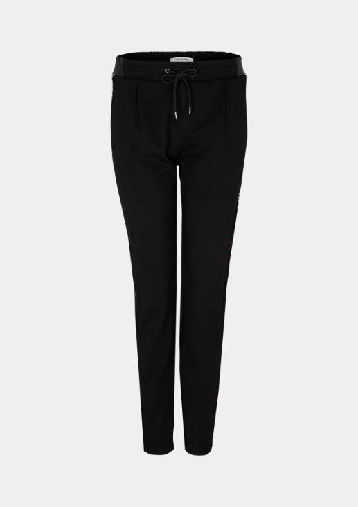 Lounge trousers with statements on the side seams from comma