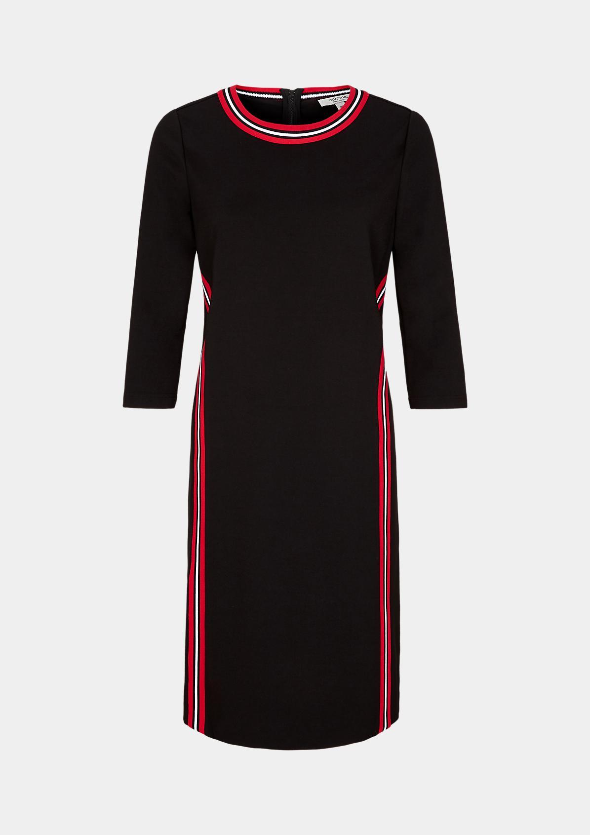 Elegantes Kleid mit Streifendetails
